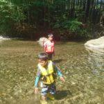 清流大芦川で川遊び